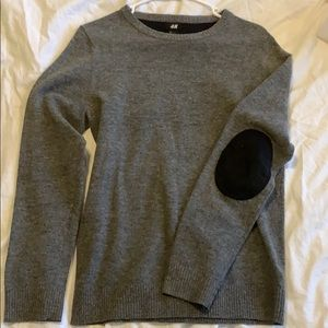 H&M wool blend sweater with elbow patches